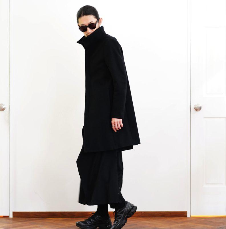 KAZUYUKI KUMAGAI スタンドカラーコート