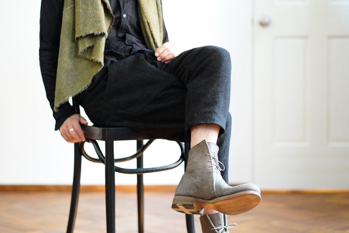 BIEK VERSTAPPEN  donegal wool trousers