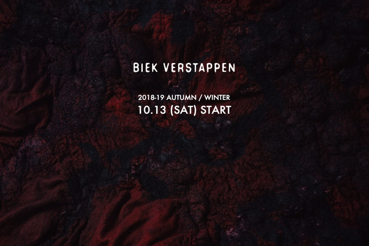 BIEK VERSTAPPEN  2018-19A/W Collection 10.13 Start!!
