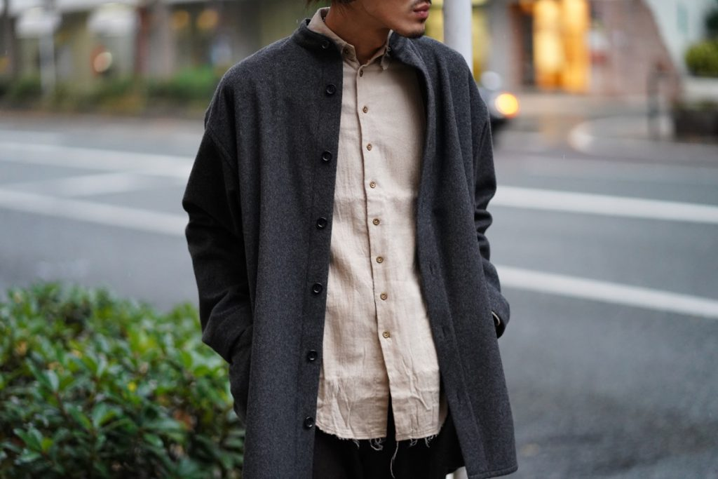 ARAKI YUU Pointed Collar Narrow Shirts