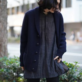 ARAKI YUU Bnd Collar Pullover Long Shirts