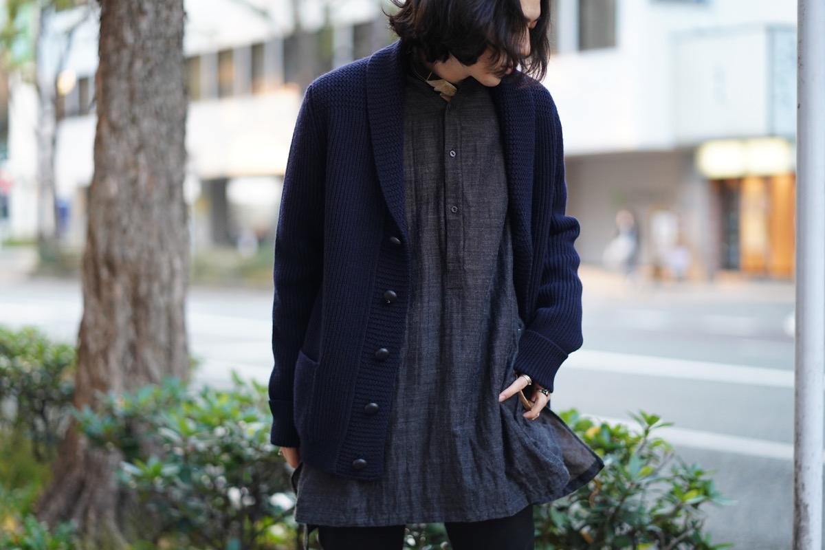 ARAKI YUU Bnd Collar Pullover Long Shirts