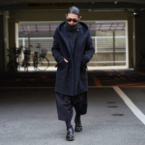 KAZUYUKI KUMAGAI カシミヤ混ダブルフェイスビーバーフーデッドコート