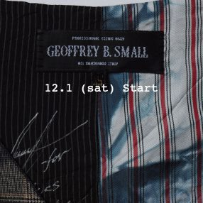Geoffrey B.Small  2018-19A/W collection 12.1 store release!!