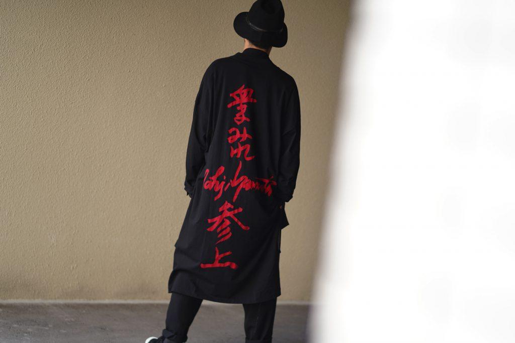 YOHJI YAMAMOTO 19S/S Message Back Print L/S