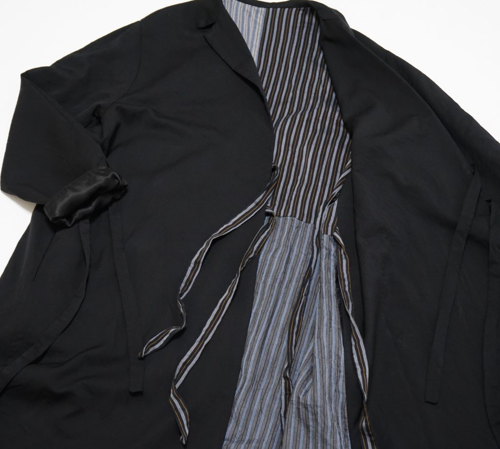 Geoffrey B.Small  Super 120's d-b notch-lapel long wrap fully-lined  jacket