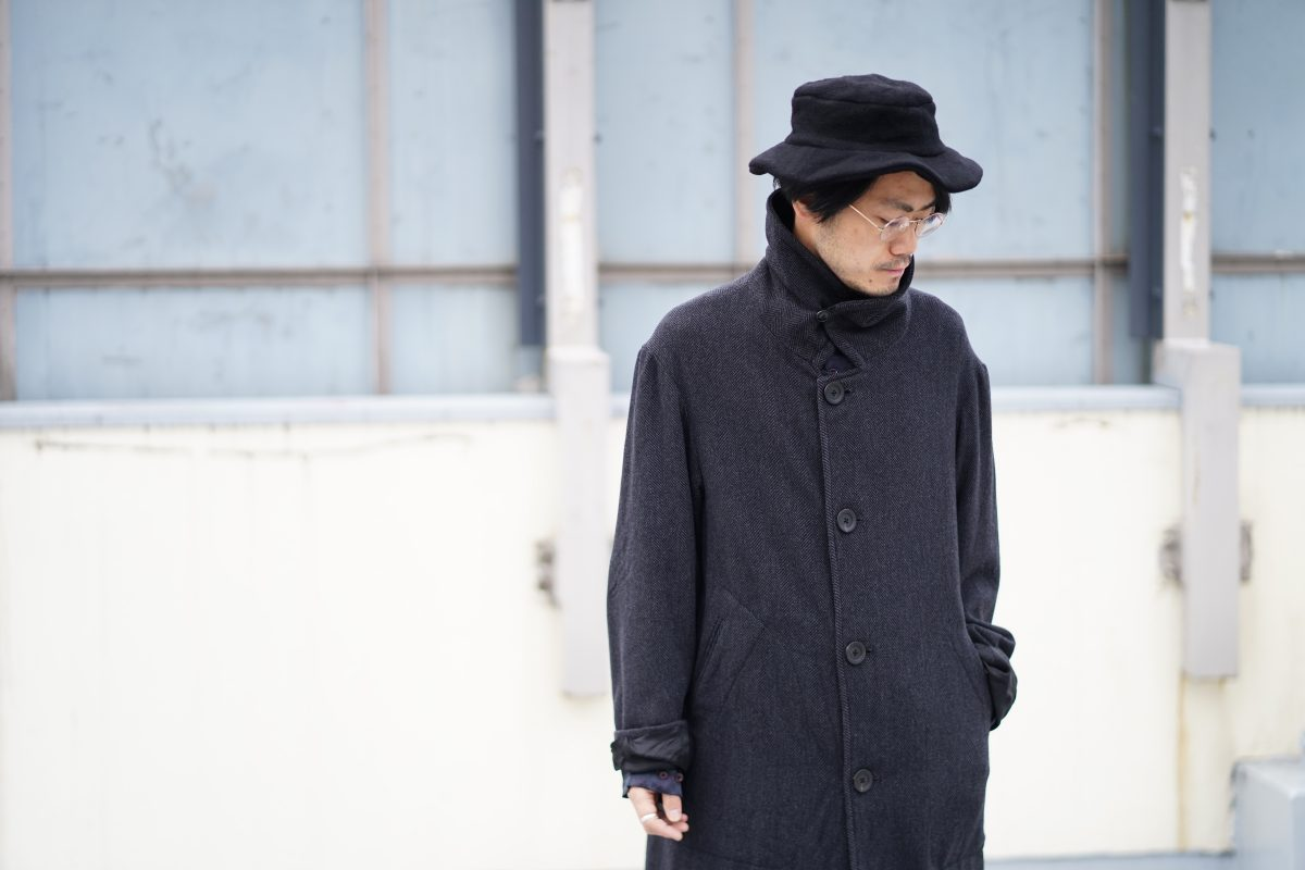 Geoffrey B.Small  handmade fully-lined 4-button oversized coat