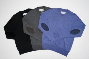 MAISON MARGIELA  Elbow Patch Crew Neck Knit