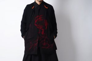 YOHJI YAMAMOTO 19S/S Back Open Print Shirt