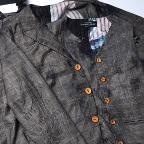 Geoffrey B.Small  hand dyed F.lli Piacenza Super 150's 1910's jacket&vest&trouser