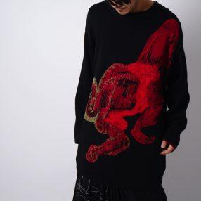 YOHJI YAMAMOTO ASAKURA Jacquard Knit