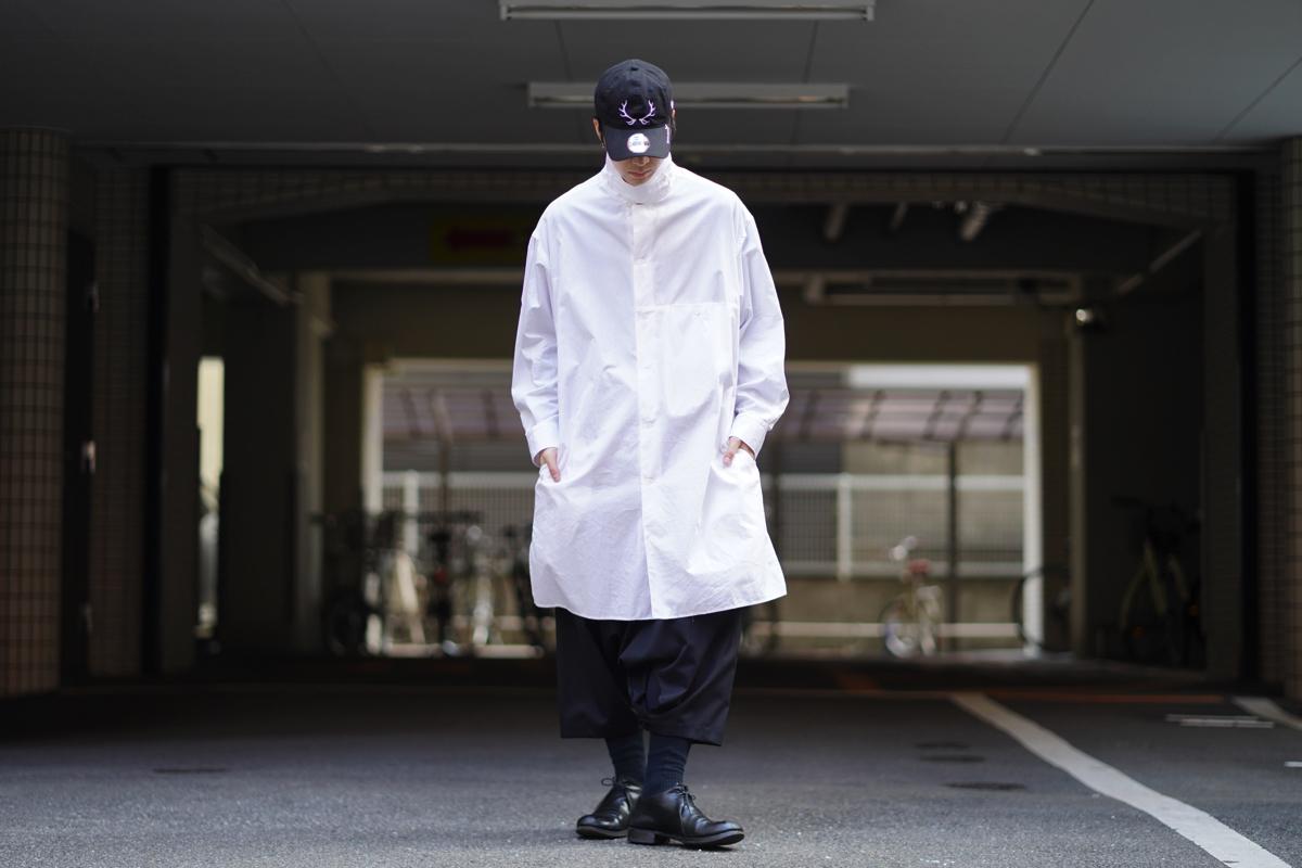 YOHJI YAMAMOTO High Neck Long Shirt
