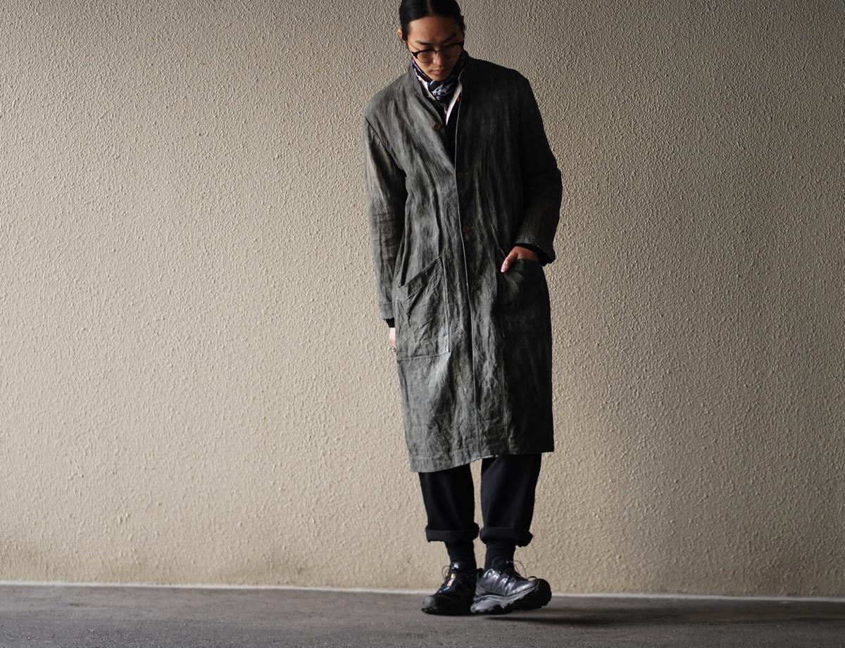 ARAKI YUU 19S/S French Vintage Linen Atelier Coat