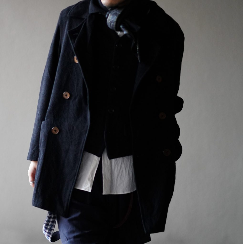 Geoffrey B.Small  double-breasted atelier work jacket