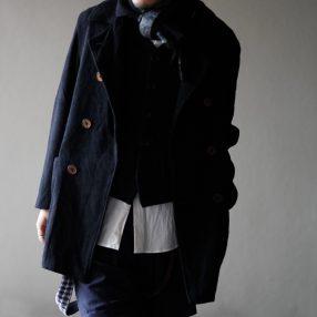 Geoffrey B.Small  double-breasted atelier work jacket