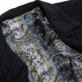 Geoffrey B.Small  handmade d-b notch-lapel long wrap fully-lined  jacket