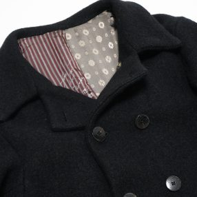 Geoffrey B.Small  early 1900's long double-breasted atelier work jacket reproduction