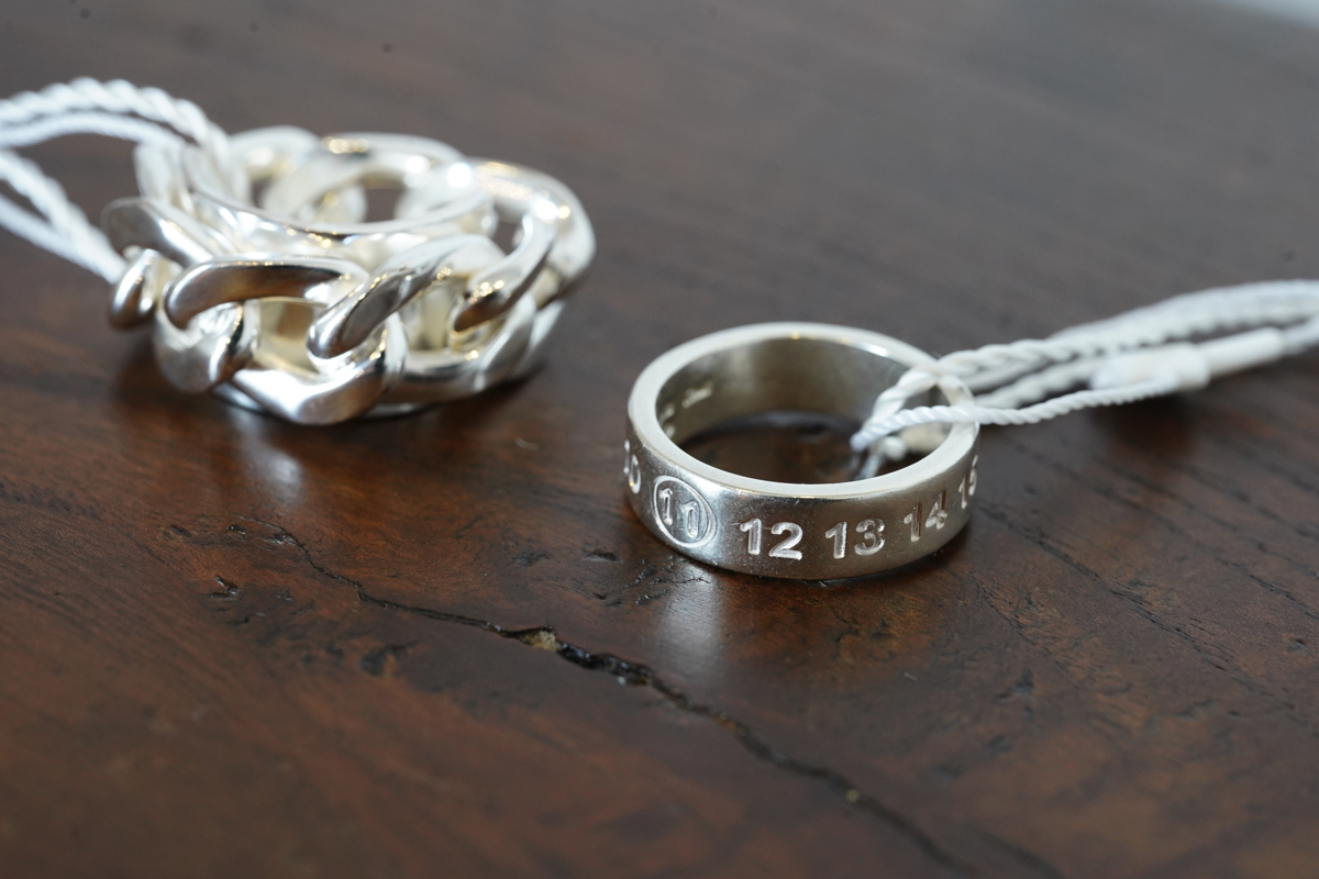 MAISON MARGIELA Number Ring & Chain Ring