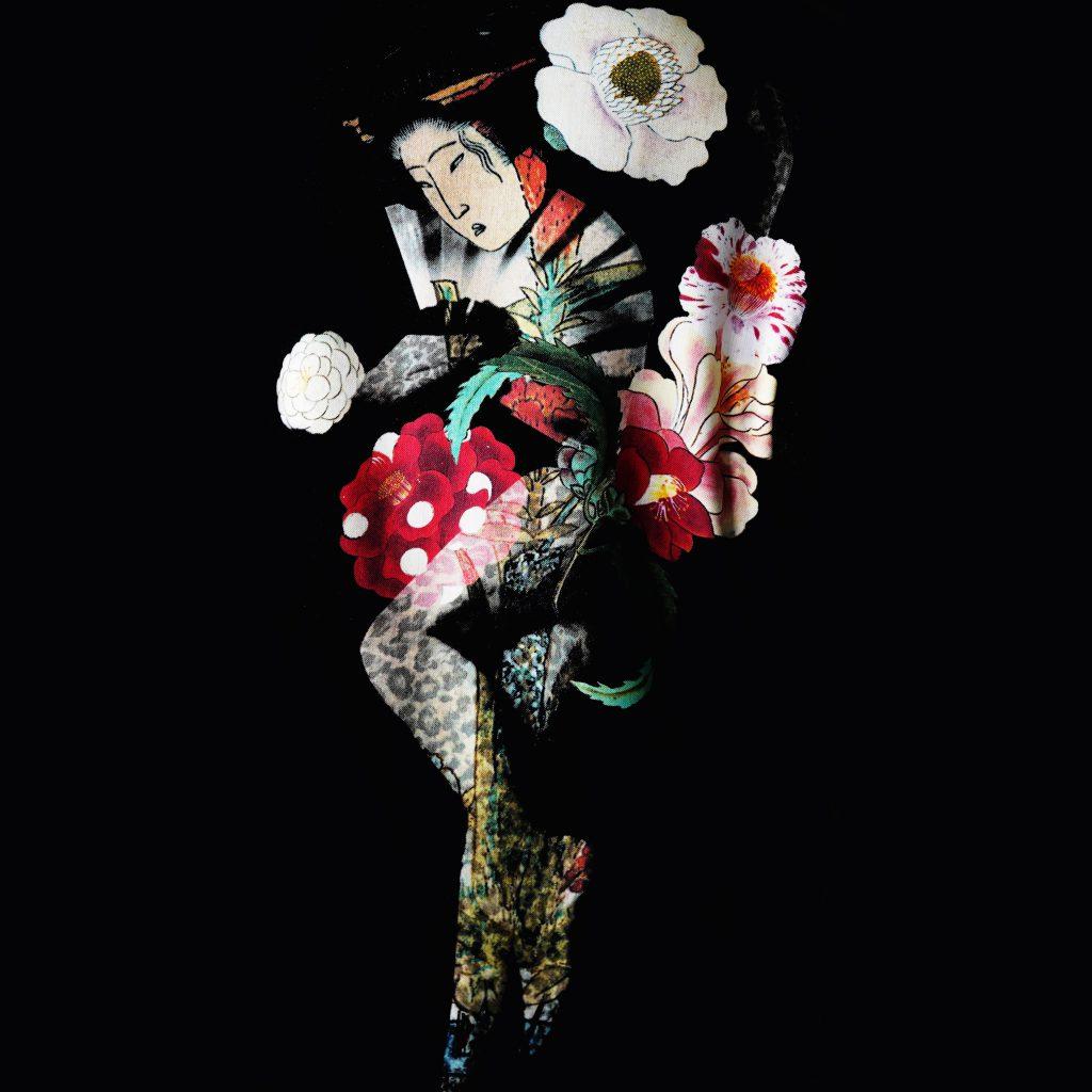 YOHJI YAMAMOTO 19SS Stand Long Jacket Face & Flower