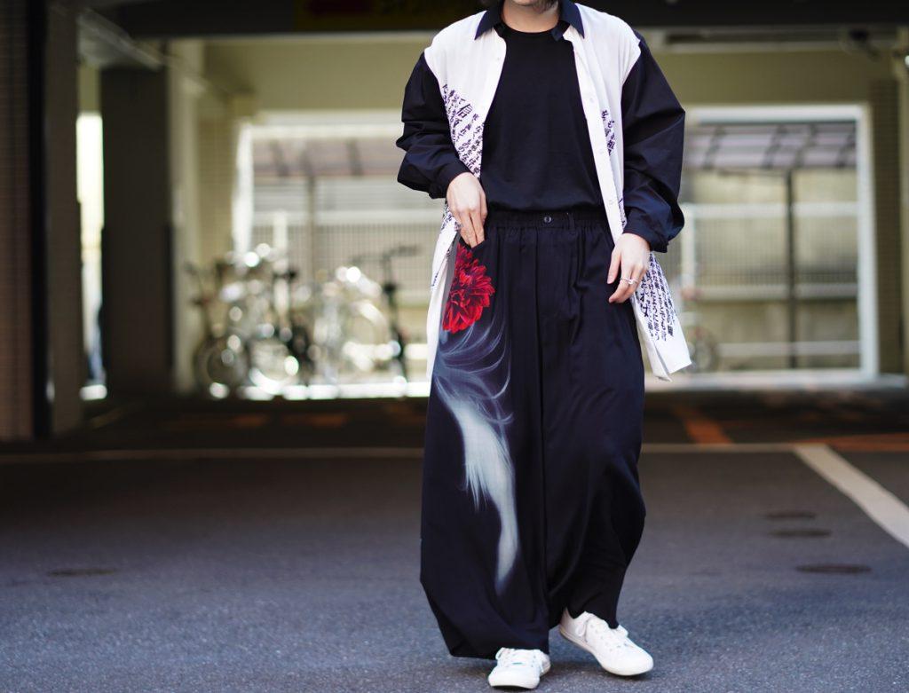 YOHJI YAMAMOTO 19SS Woman Print Wide Pants