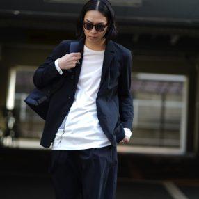 KAZUYUKI KUMAGAI 19SS Nylon Stretch Taffeta Suit