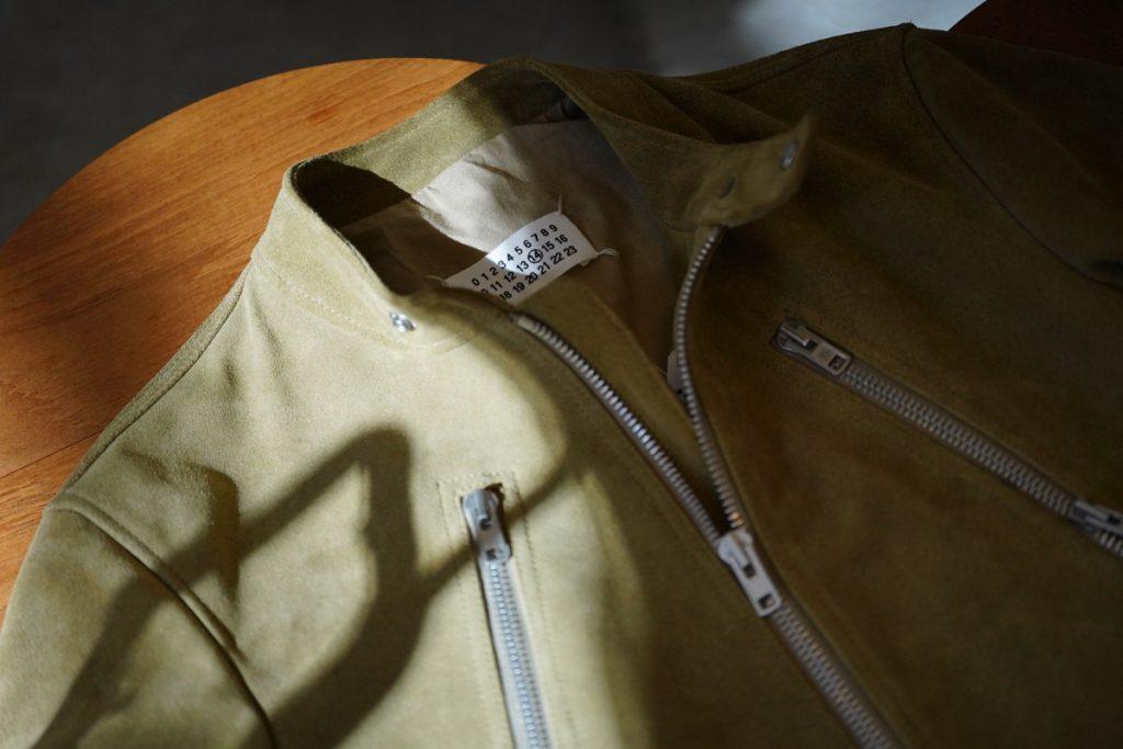 MAISON MARGIELA Suede 5zip Rider's Jacket