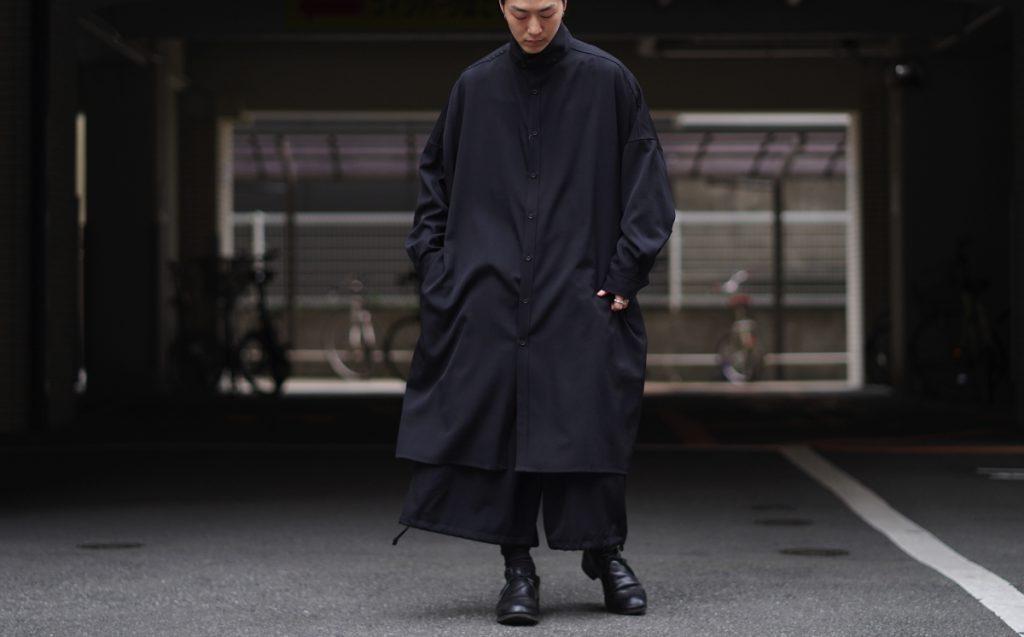 YOHJI YAMAMOTO Stand Up Collar Long Shirt Coat