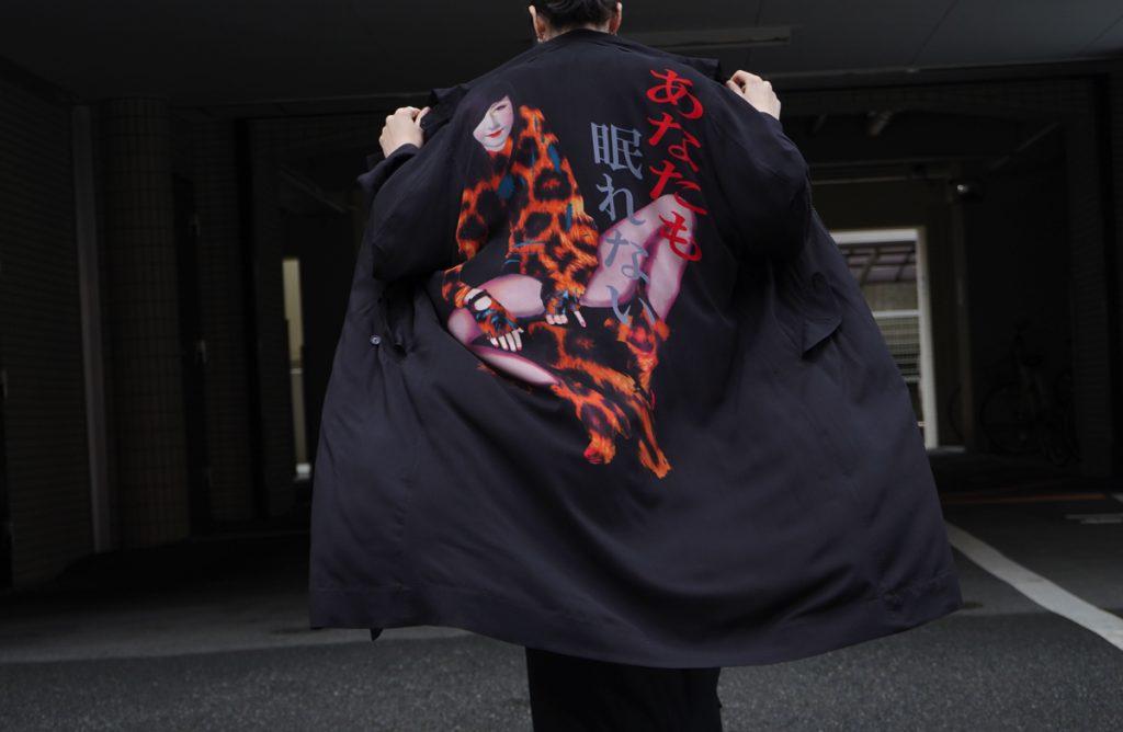 YOHJI YAMAMOTO 19S/S Woman Print Long Jacket