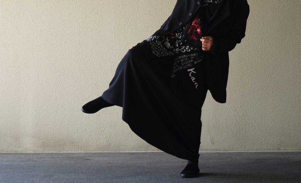 YOHJI YAMAMOTO 19S/S Wool Gabardine Skirt
