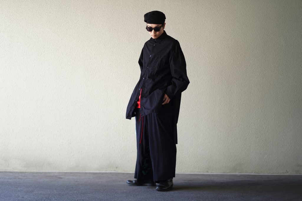 YOHJI YAMAMOTO 19S/S Broad Back Long Shirt