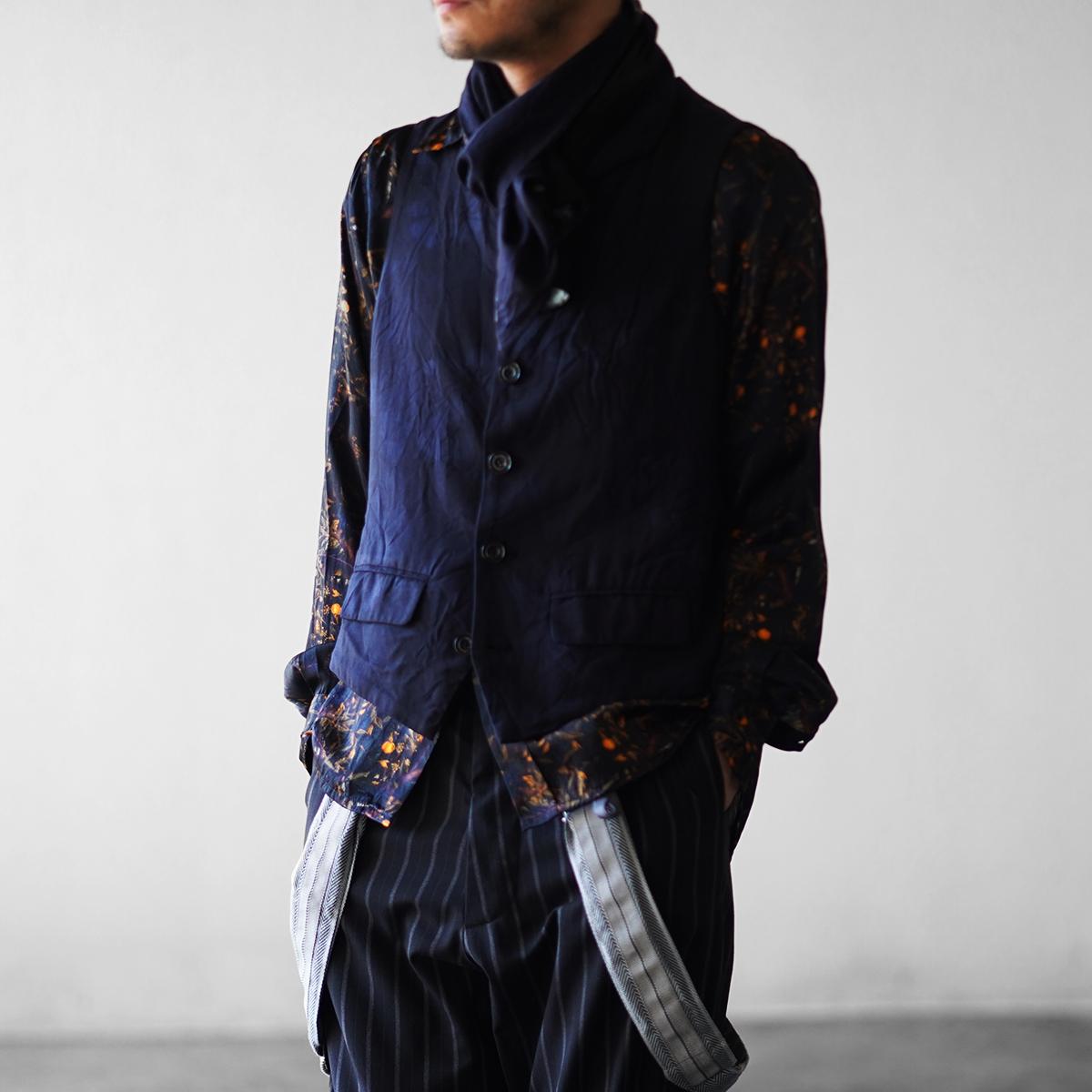 Geoffrey B.Small  handmade 19th century s-b 5-button tailored waistcoat with scarf