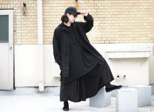 YOHJI YAMAMOTO Cotton Twill Open Collar Shirt