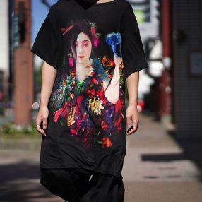 YOHJI YAMAMOTO Woman Print Crew Neck S/S