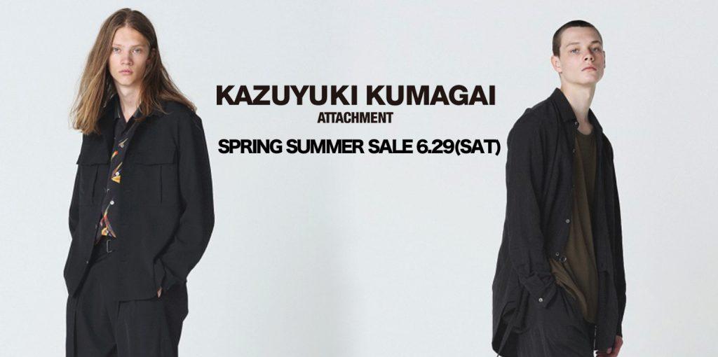 KAZUYUKI KUMAGAI 19SS ONLINE SALE 6.29(SAT) START !!!