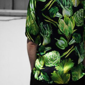 Geoffrey B.Small  1970's leisure raglan short sleeve shirt