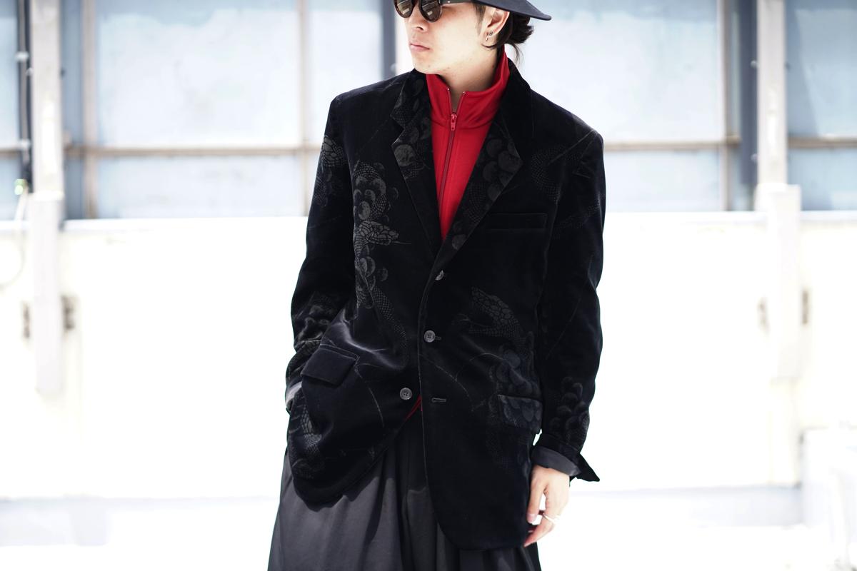 YOHJI YAMAMOTO 19-20AW Sneak Velvet Jacket
