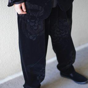 YOHJI YAMAMOTO 19-20AW Sneak Velvet Trouser