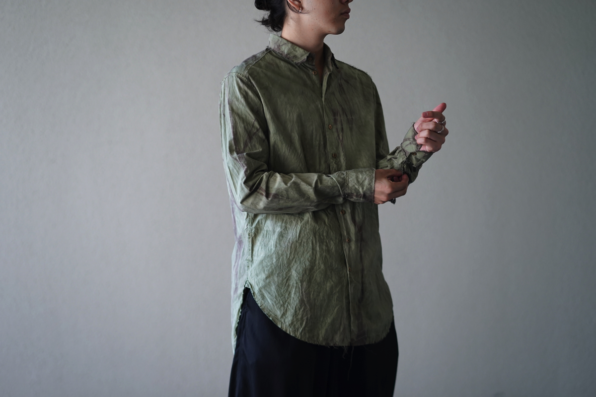 ARAKI YUU Raw Cut Narrow Double Dyed Shirt