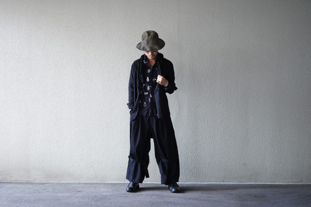 YOHJI YAMAMOTO High Waist Belt Pants