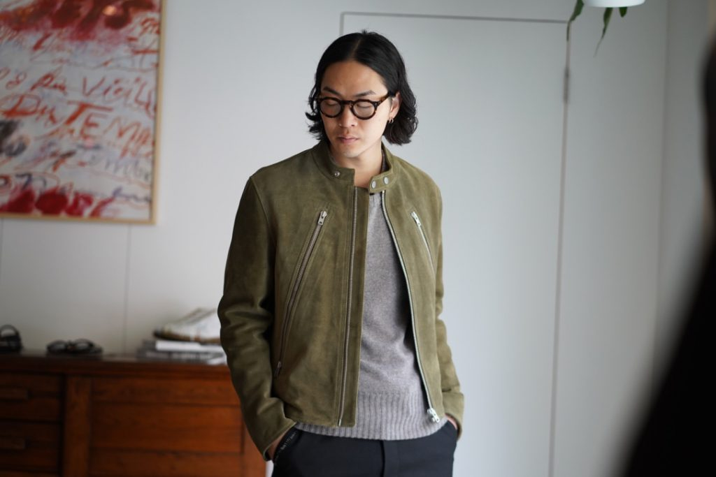 Maison Margilea Suede Leather 5zip Jacket