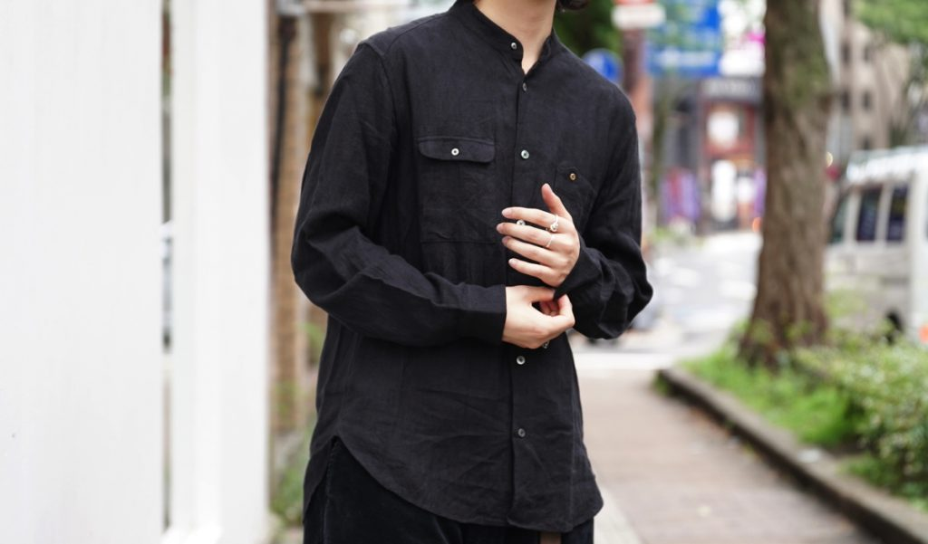 ARAKIYUU No Collar Utility Shirt