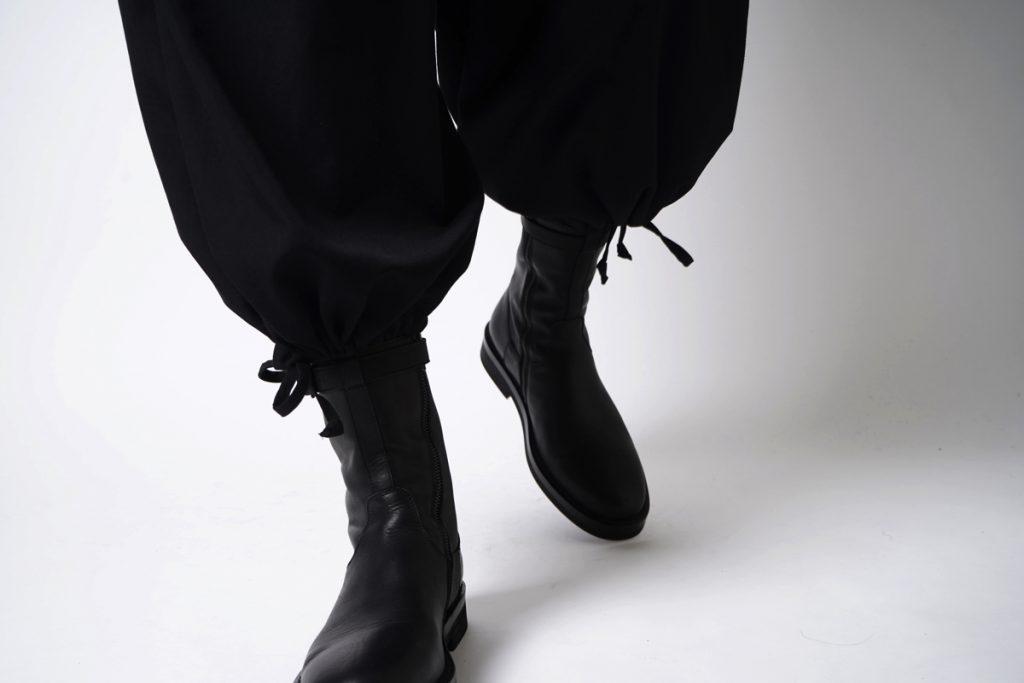 ANN DEMEULEMEESTER Boots Vitello Olio Nero