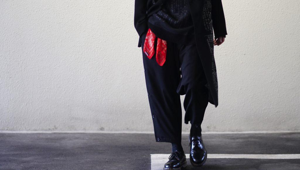 YOHJI YAMAMOTO Side Button Pants