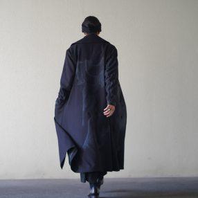 YOHJI YAMAMOTO Printed Shawl Collar Coat