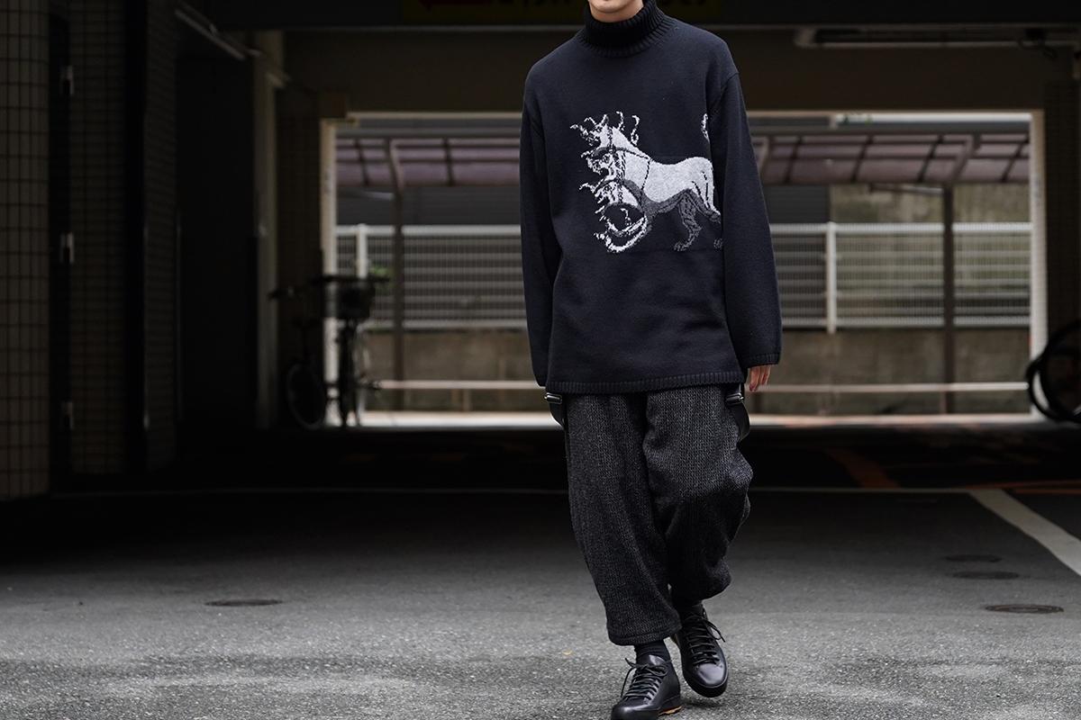 YOHJI YAMAMOTO Jacquard Knit