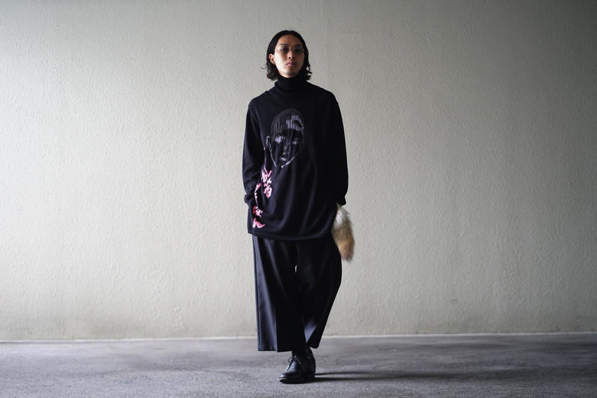 YOHJI YAMAMOTO Asakura Slit Turtle Neck Knit