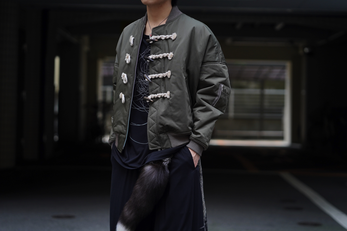 B YOHJI YAMAMOTO Toggle Button Blouson