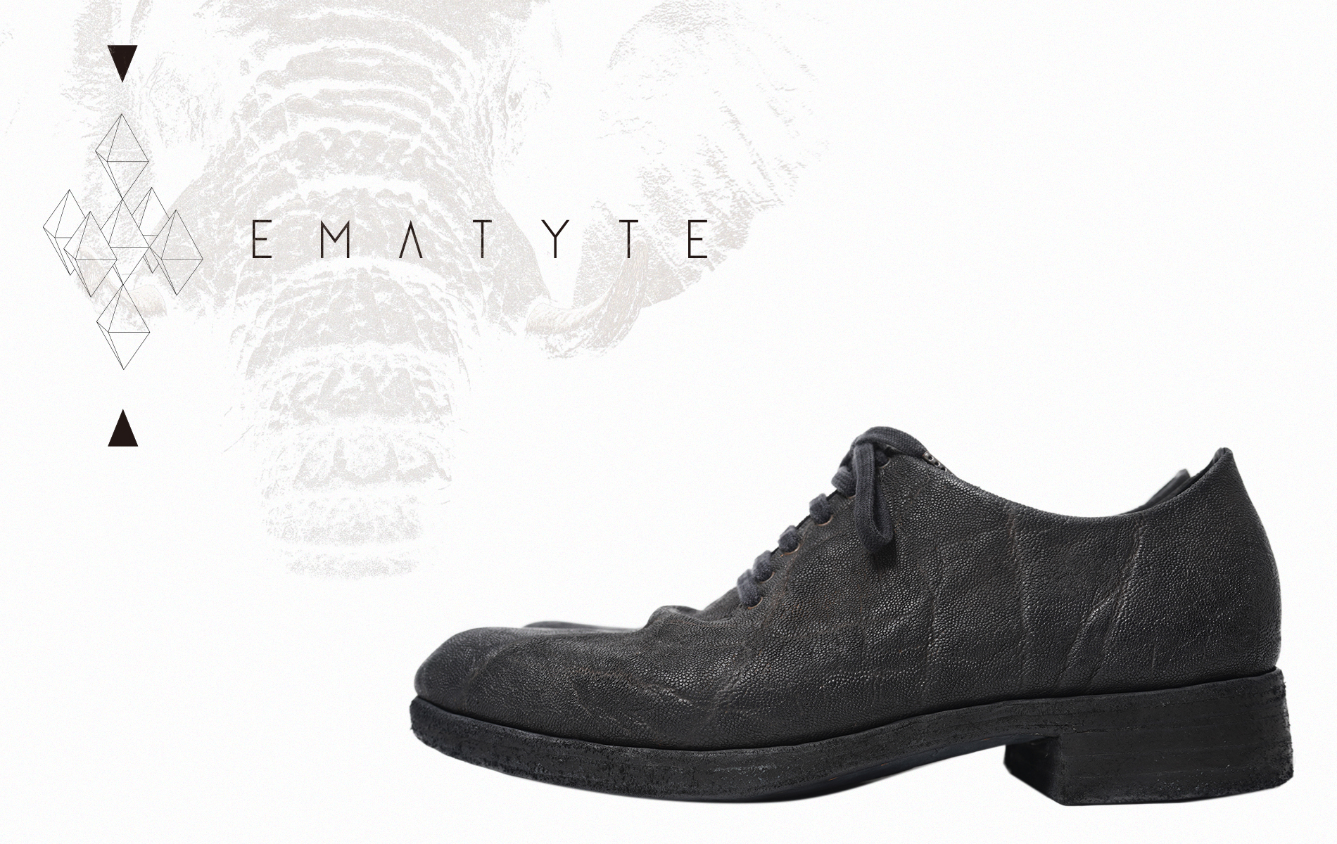 EMATYTE  ELEPHANT LEATHER SHOES