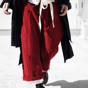 ELENA DAWSON  RED TWEED PANTS