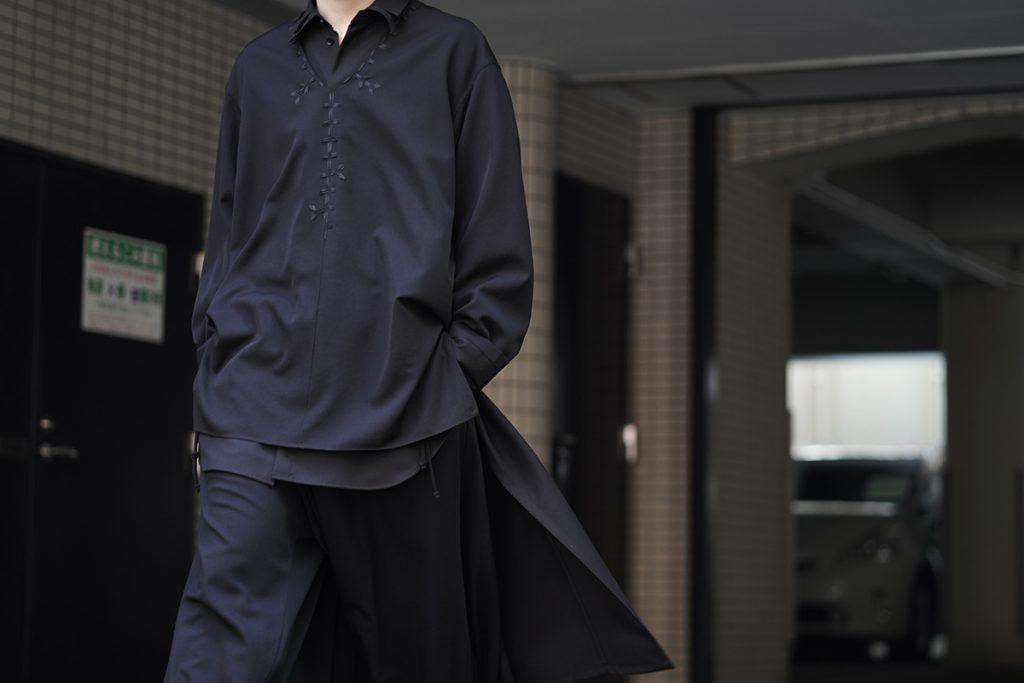 YOHJI YAMAMOTO REPLICA Embroidery Tunic Shirt